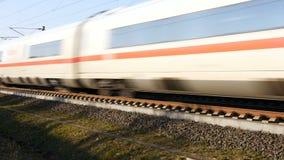 Deutscher EIS-Hochgeschwindigkeitszug stock footage