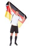 Deutscher Fußballspieler Stockbild