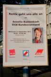 Deutscher Gewerkschaftsbund DGB ulotka obrazy stock