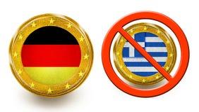 Deutscher Grexit Lizenzfreie Abbildung