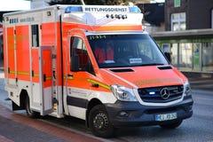 Deutscher Krankenwagen Stockfotografie