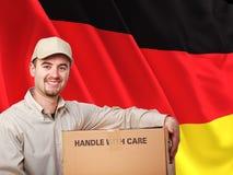 Deutscher Lieferbote Stockbild