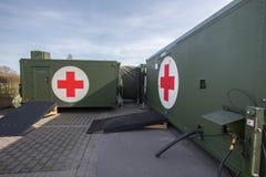 Deutscher Militärkrankenhausbehälter Lizenzfreies Stockfoto