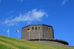 Deutscher militairy Kirchhof Pordoi, Dolomit Italien Stockfoto