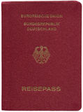 Deutscher Paß, getrennt auf Weiß Stockfotos