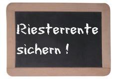 Deutscher Rentenbezug Stockfoto