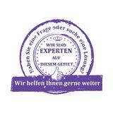 Deutscher sachverständiger Stempel Lizenzfreie Stockfotografie
