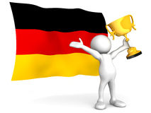 Deutscher Sieg Stockbild