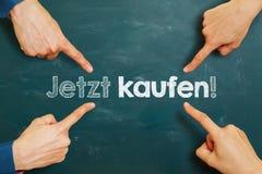 Deutscher Slogan Lizenzfreie Stockfotos