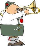 Deutscher Trombone-Spieler Lizenzfreies Stockfoto
