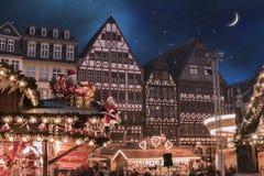 Deutscher Weihnachtsmarkt Stockbild