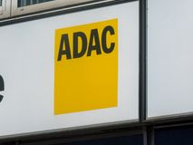 Deutsches ADAC-Zeichen Lizenzfreie Stockfotos