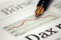 Deutsches Aktienindexdiagramm Lizenzfreies Stockbild