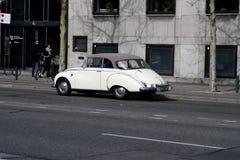 Deutsches cllassic audi Auto in Kopenhagen D?nemark lizenzfreies stockbild