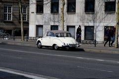 Deutsches cllassic audi Auto in Kopenhagen D?nemark stockfotografie