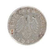 Deutsches coin. Back view. Stock Photo