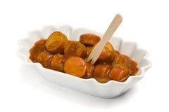 Deutsches currywurst Lizenzfreie Stockfotos