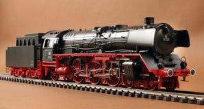 Deutsches Dampflokomotivmodell Stockbild