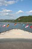 Deutsches Eck. In Koblenz Germany stock photography