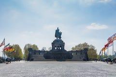 Deutsches Eck, esquina alemana, es el nombre de un promontorio en Koble foto de archivo libre de regalías