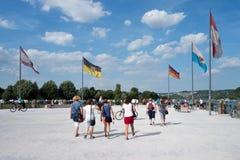 Deutsches Eck (German Corner) in Koblenz/ Germany Royalty Free Stock Images