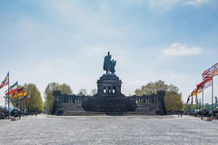 Deutsches Eck, German Corner, is the name of a headland in Koble Royalty Free Stock Photo