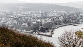Deutsches Eck in Koblenz Rhineland-Palatinate Germany.  Royalty Free Stock Images