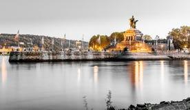 Deutsches Eck in Koblenz Rhineland-Palatinate Germany.  Royalty Free Stock Photo