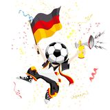 Deutsches Fußball-Gebläse Stockfotos