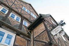 Deutsches Haus in Rehna Stock Photo