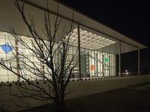 Deutsches Kanzleramtgebäude nachts, Berlin Stockbild