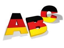 Deutsches Konzept ABCs Schul Stockbilder
