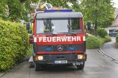 Deutsches Löschfahrzeug Stockfotografie