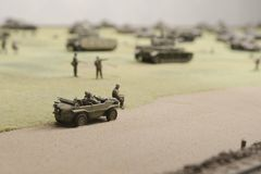 Deutsches Militärfahrzeug nahe Prokhorovka Lizenzfreies Stockfoto