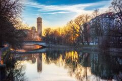 Deutsches Museum and Munich Stock Photo