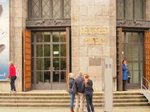 Deutsches Museum. In munich with some visitors infront of it Stock Image