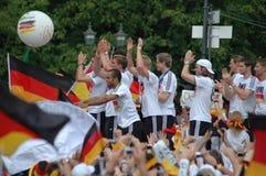 Deutsches nationales Fußballteam Stockfotografie