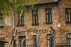 Deutsches Nazikonzentrationslager Auschwitz-Birkenau in Polen Lizenzfreies Stockfoto