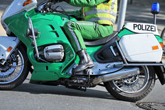 Deutsches Polizeimotorrad   Lizenzfreie Stockfotos