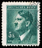 DEUTSCHES REICH Circa 1939 - c 1944: Eine Briefmarke mit dem Schildern von Adolf Hitler Stockbilder