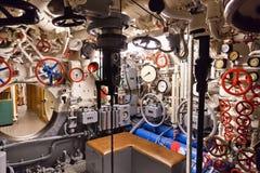 Deutsches Unterseeboot - Inneres des Unterseeboots Stockbild
