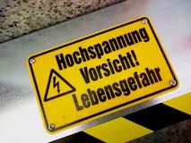 Deutsches Warnzeichen Lizenzfreies Stockbild