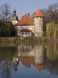Deutsches Wasserschloß Stockfotos