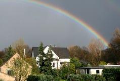 deutschland över regnbågen Arkivbilder