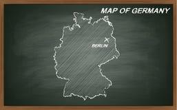Deutschland auf Tafel Stockfotos