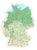 Deutschland - ausführliche topographische Karte - Illustration Lizenzfreie Stockbilder
