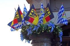 Deutschland Bayern, MÃ-¼ nchen, Flagge Royaltyfri Fotografi
