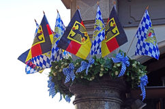 German and bavarian flag. Munich Royalty Free Stock Photography