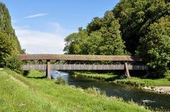 Deutschland, Brücke über Wutach-Fluss Lizenzfreie Stockfotos