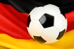 Deutschland in der Erwartung auf Fußball Stockbilder